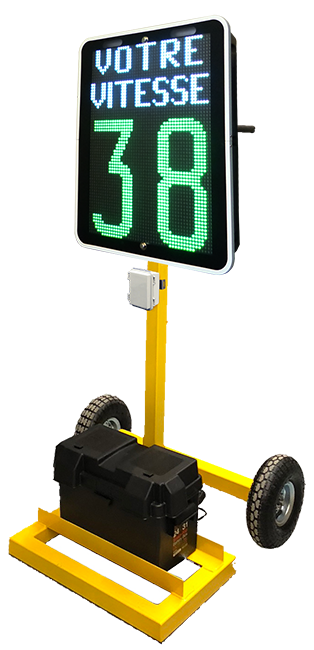 afficheur de vitesse portatif KAM-DOLLY - Afficheurs de vitesse et PMV - Trafic innovation