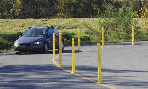 Délinéateur Deflex pour séparation de voies et marquage routier - Technologies - Trafic Innovation