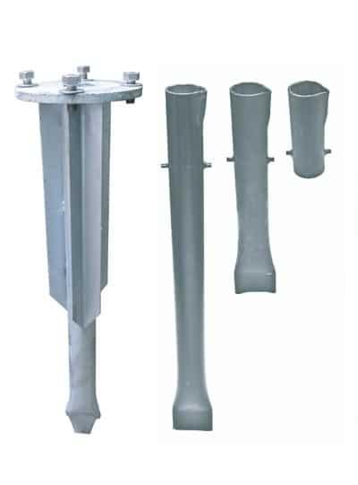 Système d'ancrages enfouis à manchon carvelle - Bollards et poteaux de signalisation - Trafic Innovation