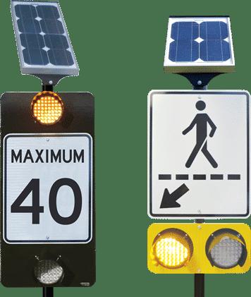 Panneau de signalisation électronique à DEL ULTRA-MINCE combiné à un panneau solaire - Technologies - Trafic Innovation